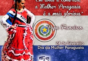 Homenagem ao dia da Mulher Paraguaia