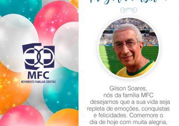 Parabéns, Gilson Soares!