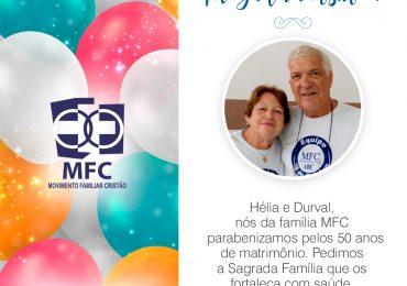 Hélia e Durval Celebraram 50 anos de Matrimônio