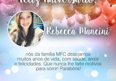 Parabéns, Rebecca Mancini!