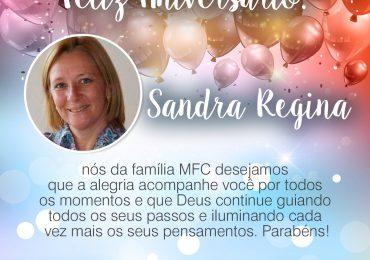 Parabéns, Sandra Regina!