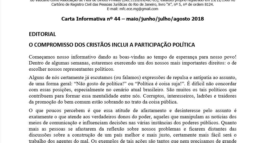 MFC Minas Gerais: Carta Informativa nº 44