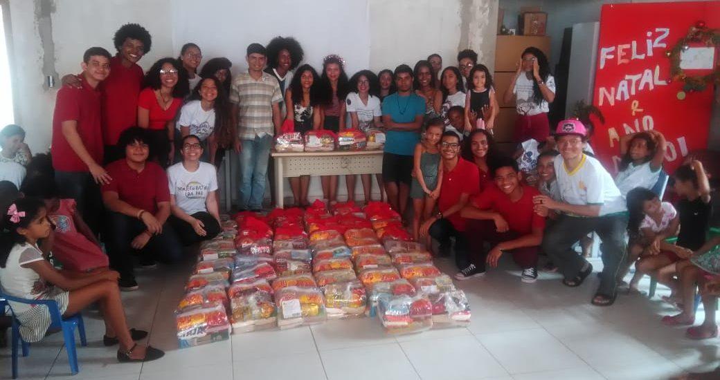 MFC Paço do Lumiar: Festa de Natal do projeto Grão de Areia