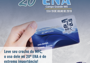 Crachá do MFC no 20º ENA