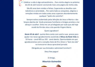 MFC Belo Horizonte: 85 anos do MFCista Maurício Guimarães