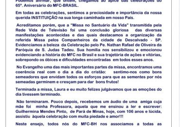 MFC Belo Horizonte: Carta ao MFC Nacional