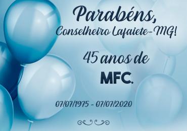 MFC Conselheiro Lafaiete: 45 anos