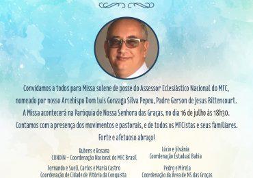 Convite: Missa Solene de Posse