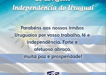Independência do Uruguai, parabéns!