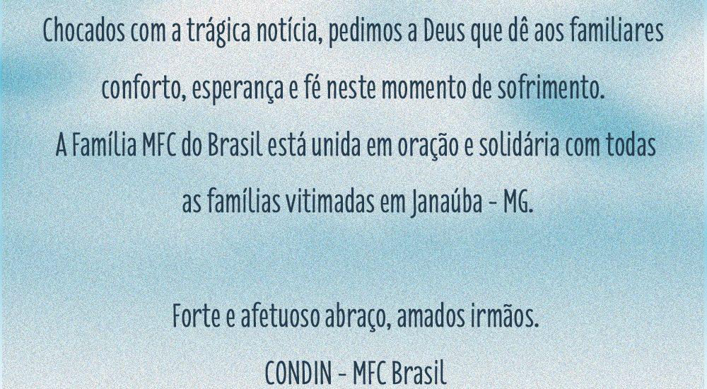MFC do Brasil está em oração pelas famílias vitimadas em Janaúba – MG
