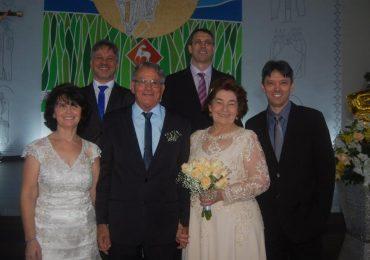 MFC Cocal do Sul: Bodas de Ouro do casal Moacir e Vitalina
