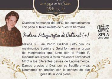Luto: Malena Artagaveytia de Gallinal