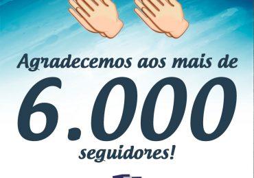 6.000 Seguidores no Facebook
