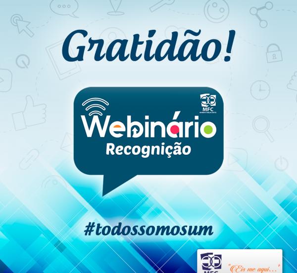 Webinário – Recognição: Gratidão!