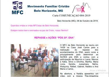 MFC Minas Gerais: Cartas Comunição