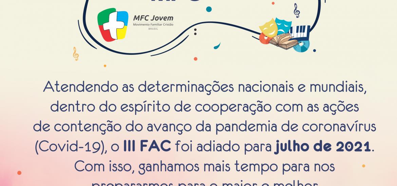 III FAC: Comunicado
