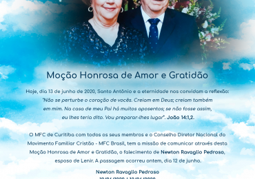MFC Nacional: Moção Honrosa de Amor e Gratidão
