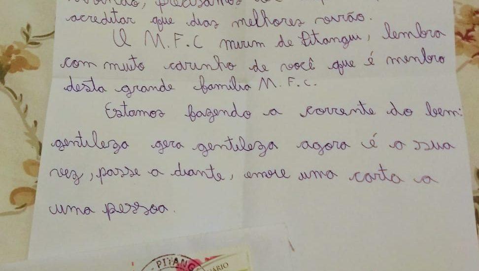 MFC Mirim de Pitangui: Corrente do Bem