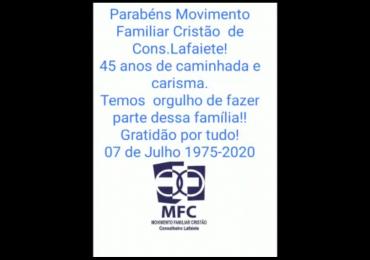 MFC Conselheiro Lafaiete: Homenagem aos 45 anos