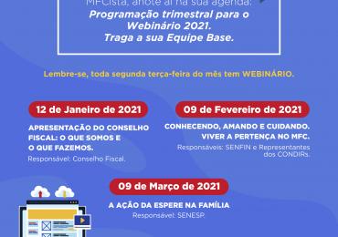 Webinário 2021: 1º Trimestre