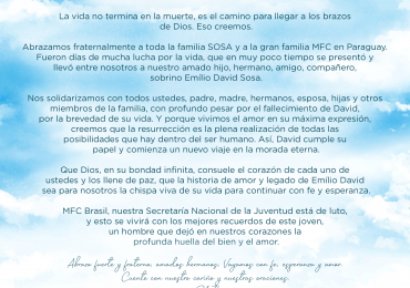 MFC Nacional: Mensagem ao MFC Paraguai