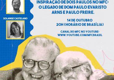 MFC Nacional: Live – Inspiração de Dois Paulos no MFC:  O legado de Dom Paulo Evaristo Arns e Paulo Freire.