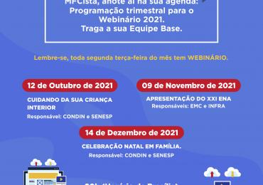 Webinário 2021: 4º Trimestre