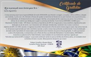Layout Certificado Gratidao