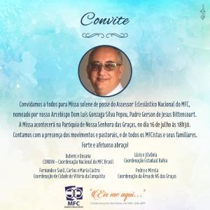 Convite PadreGerson