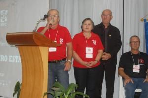 abertura do XX encontro pelo Coordenador Estadual Hugo
